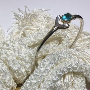 Jewelry - Sterling Silver and Turquoise Crystal Bracelet